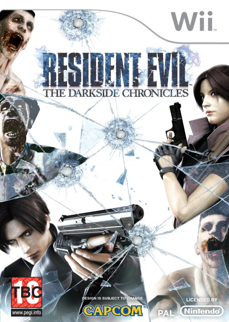 Capcom, Resident Evil: The Dark Side Chronicles, Claire Redfield, Leon S. Kennedy, Video Game Cover
