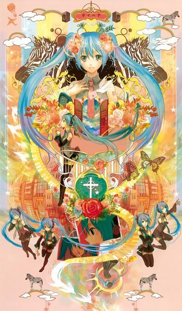 Fujiwara, Pixiv Girls Collection, Vocaloid, Miku Hatsune, Pixiv