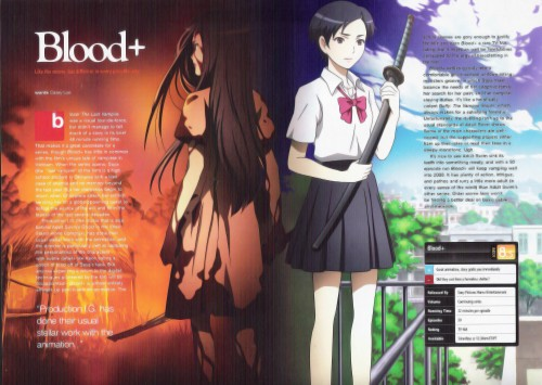Production I.G, Blood+, Saya Otonashi, Anime Insider