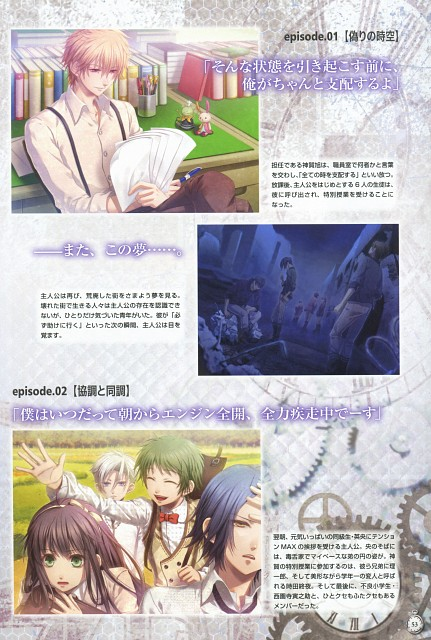 Nagaoka, Idea Factory, Clock Zero Official Visual Fan Book, Clock Zero, Akira Kaga