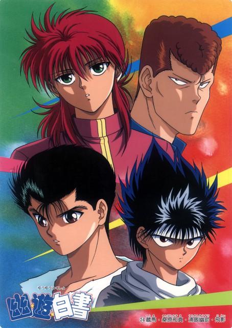 Studio Pierrot, Yuu Yuu Hakusho, Kurama, Yusuke Urameshi, Kazuma Kuwabara
