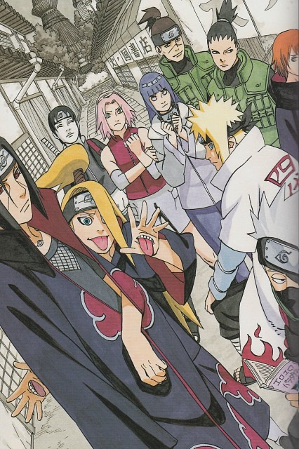 Masashi Kishimoto, Naruto, Shikamaru Nara, Sai , Sakura Haruno