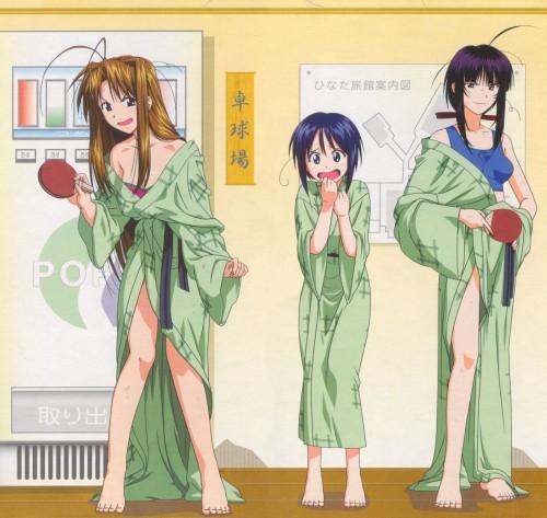 Ken Akamatsu, Makoto Uno, Love Hina, Kanako Urashima, Shinobu Maehara