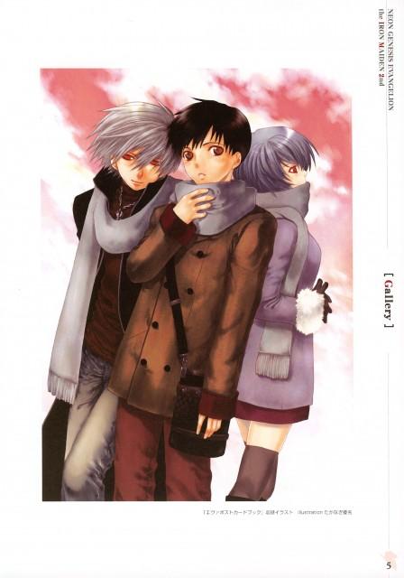 Neon Genesis Evangelion, Rei Ayanami, Shinji Ikari, Kaworu Nagisa