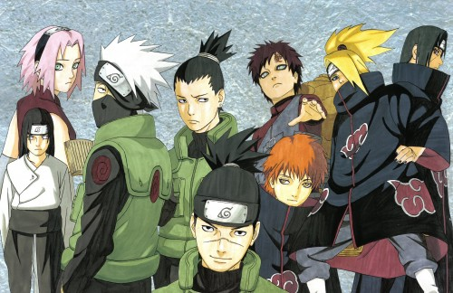 Masashi Kishimoto, Naruto, Shikamaru Nara, Deidara, Sakura Haruno