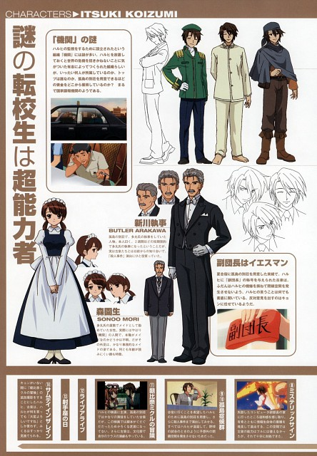 Kyoto Animation, The Melancholy of Suzumiya Haruhi, Itsuki Koizumi, Sonou Mori, Character Sheet