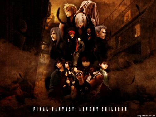 Square Enix, Final Fantasy VII: Advent Children, Cid Highwind, Cloud Strife, Tifa Lockhart Wallpaper