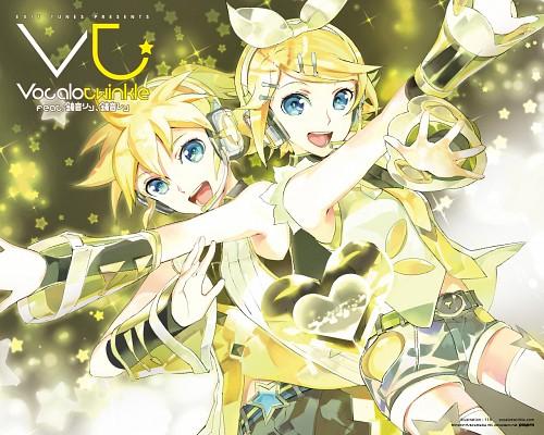 119, Vocaloid, Rin Kagamine, Len Kagamine, Official Wallpaper