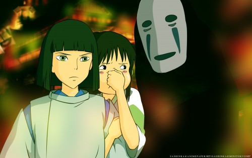 Studio Ghibli, Spirited Away, Haku (Spirited Away), Kaonashi, Chihiro Ogino Wallpaper