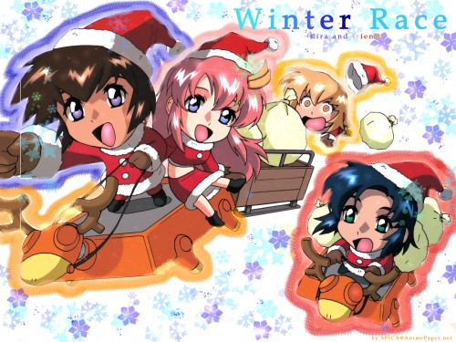 As' Maria, Sunrise (Studio), Mobile Suit Gundam SEED, Cagalli Yula Athha, Athrun Zala Wallpaper