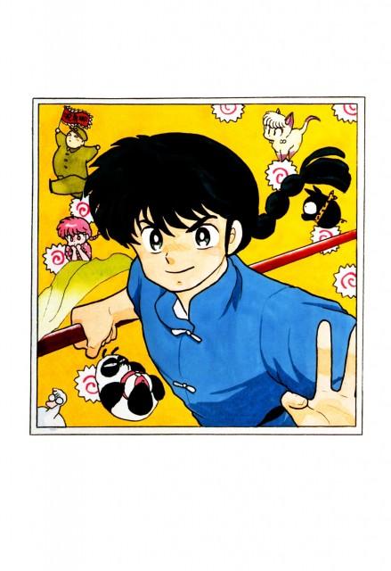 Rumiko Takahashi, Ranma 1/2, Shampoo, Ranma Saotome, Genma Saotome