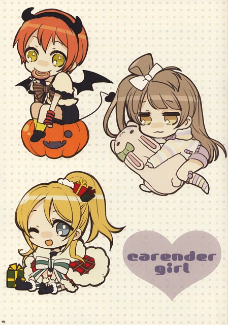 Noizi Ito, Dear Friend: Love Live! Illust Book, Love Live! School Idol Project, Eri Ayase, Rin Hoshizora