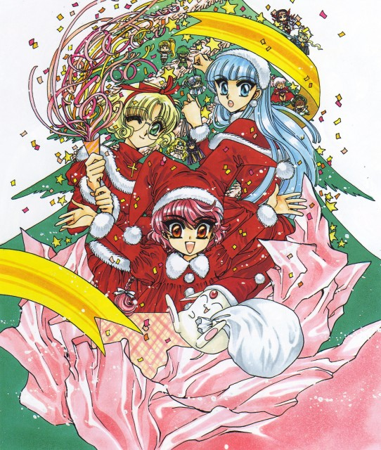 CLAMP, Magic Knight Rayearth, Magic Knight Rayearth Illustrations Collection, Mokona, Umi Ryuuzaki