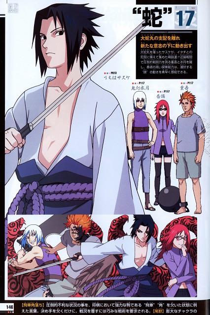 Studio Pierrot, Naruto, Naruto Juunen Hyakunin, Sasuke Uchiha, Suigetsu Hozuki
