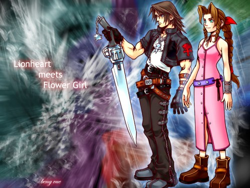 Square Enix, Final Fantasy VIII, Kingdom Hearts, Final Fantasy VII, Aerith Gainsborough Wallpaper