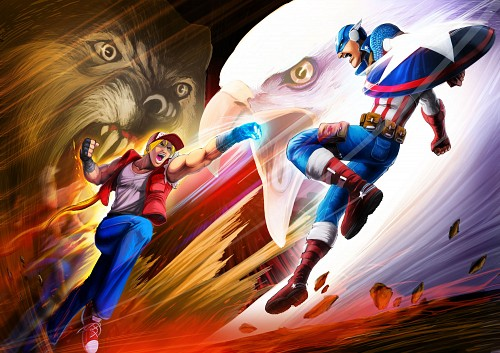 SNK, Marvel, King of Fighters, Terry Bogard, Captain America