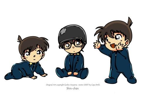 Detective Conan, Shinichi Kudou, Vector Art