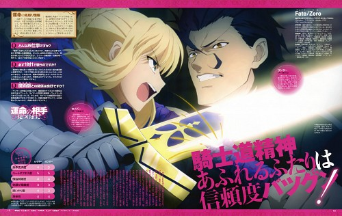 TYPE-MOON, Ufotable, Fate/Zero, Lancer (Fate/Zero), Saber