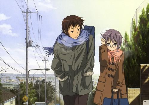 Kyoto Animation, The Melancholy of Suzumiya Haruhi, Suzumiya Haruhi Mini Illustration Book, Yuki Nagato, Kyon