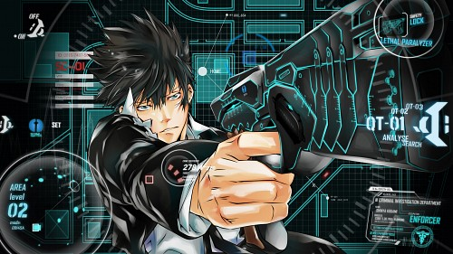 Akira Amano, Production I.G, PSYCHO-PASS, Shinya Kougami, Vector Art Wallpaper