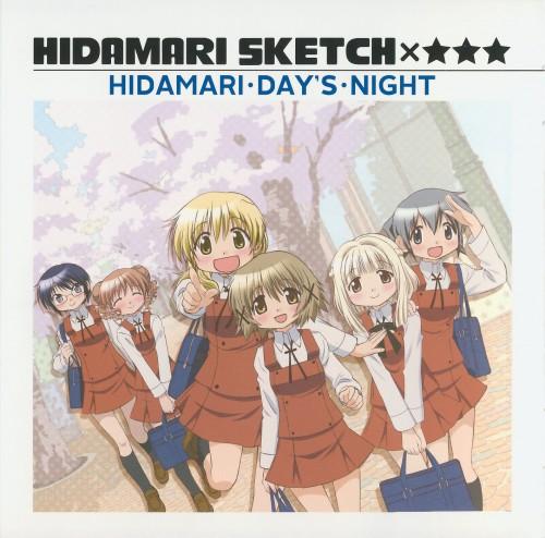 Hidamari Sketch, Sae, Hiro, Yuno, Nori