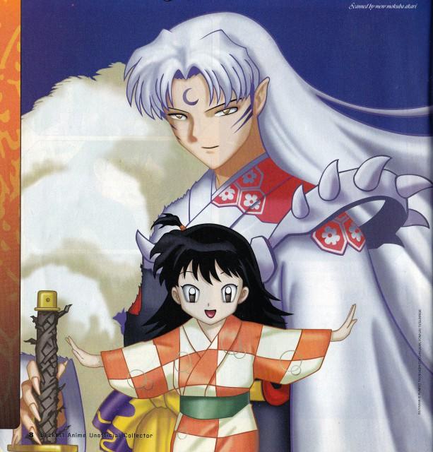 Inuyasha, Rin (Inuyasha), Sesshoumaru, Doujinshi, Magazine Page
