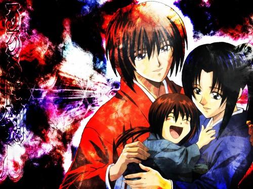 Nobuhiro Watsuki, Rurouni Kenshin, Kaoru Kamiya, Kenshin Himura, Kenji Himura Wallpaper
