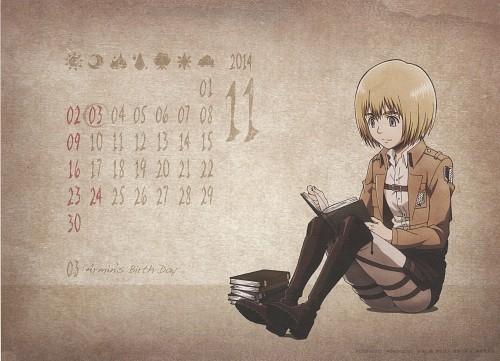 Hajime Isayama, Production I.G, Shingeki no Kyojin, Shingeki no Kyojin School Calendar 2014, Armin Arlert