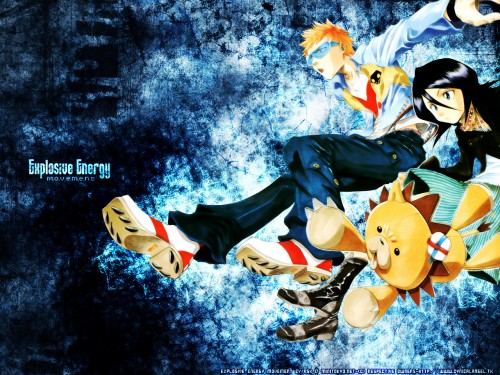 Kubo Tite, Bleach, Kon, Rukia Kuchiki, Ichigo Kurosaki Wallpaper
