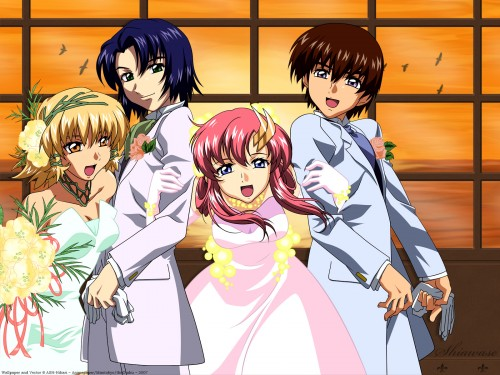Sunrise (Studio), Mobile Suit Gundam SEED, Lacus Clyne, Kira Yamato, Athrun Zala Wallpaper