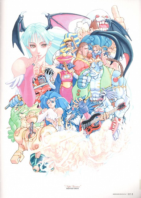 Capcom, Darkstalkers Graphic File, Dark Stalkers, Bishamon, Anakaris