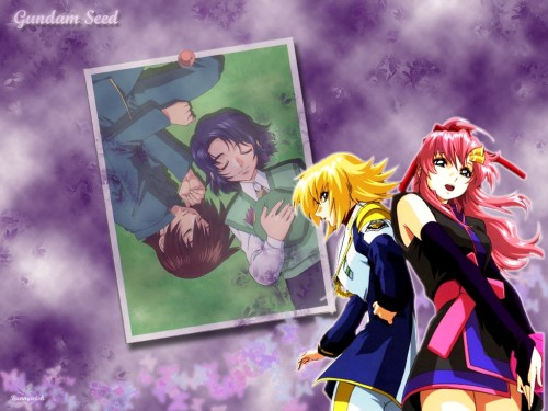 Sunrise (Studio), Mobile Suit Gundam SEED Destiny, Lacus Clyne, Cagalli Yula Athha, Athrun Zala Wallpaper