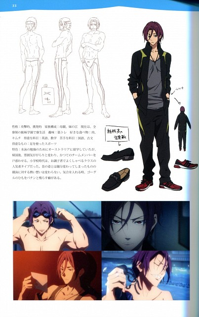 Kyoto Animation, Free!, Free! TV Animation Guide Book, Rin Matsuoka, Character Sheet