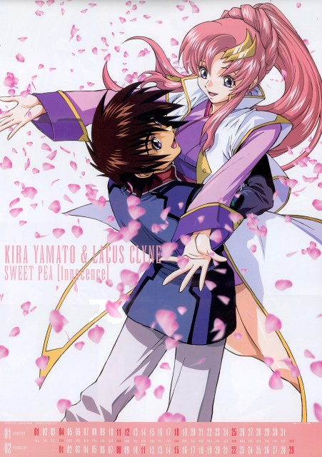 Sunrise (Studio), Mobile Suit Gundam SEED, Kira Yamato, Lacus Clyne, Calendar