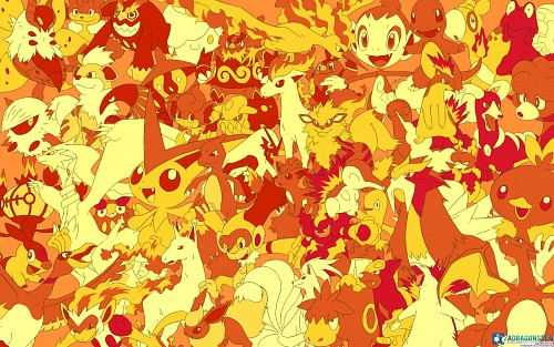 Nintendo, OLM Digital Inc, Pokémon, Flareon, Charmeleon Wallpaper