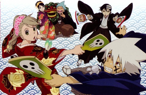 BONES, Soul Eater, Black Star, Death The Kid, Tsubaki Nakatsukasa