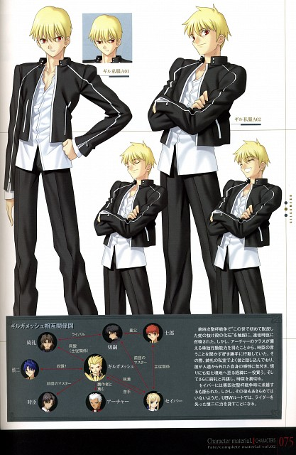 TYPE-MOON, Fate/complete material II Character material., Fate/stay night, Gilgamesh (Fate/stay night)
