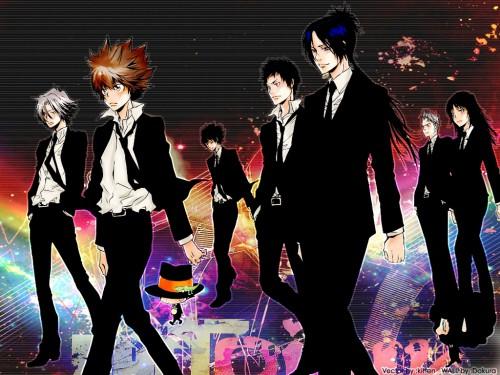 Katekyo Hitman Reborn!, Ryohei Sasagawa, Tsunayoshi Sawada, Kyoya Hibari, Lal Mirch Wallpaper