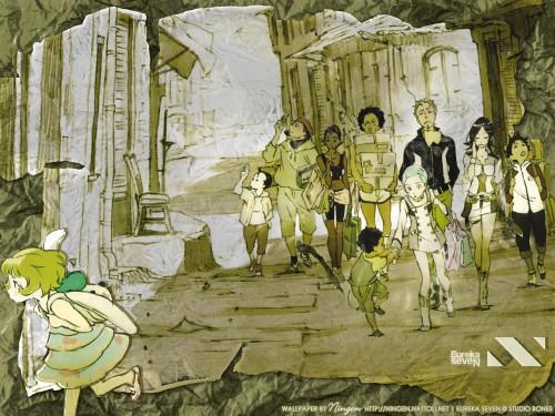 Kazuma Kondou, BONES, Eureka 7, Maurice, Talho Yuuki Wallpaper