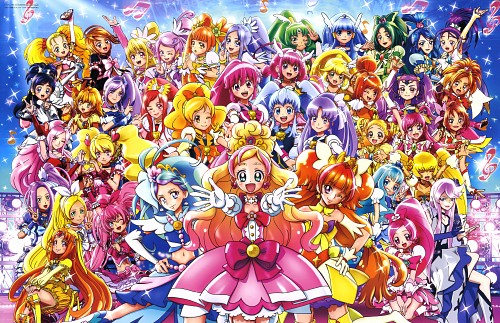 Toei Animation, Precure All Stars, Precure Pia, Cure Sunshine, Cure Melody