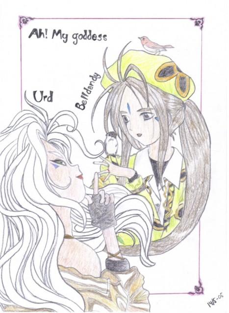 Kousuke Fujishima, Ah! Megami-sama, Belldandy, Urd, Member Art
