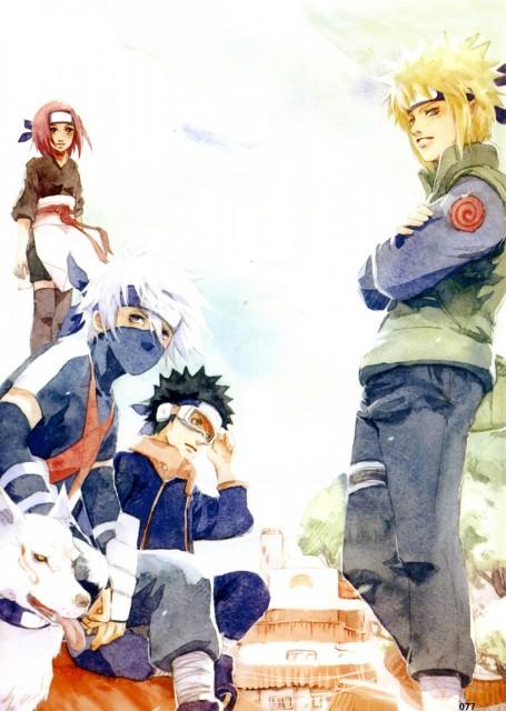 Shel, Naruto, Kakashi Hatake, Rin Nohara, Minato Namikaze