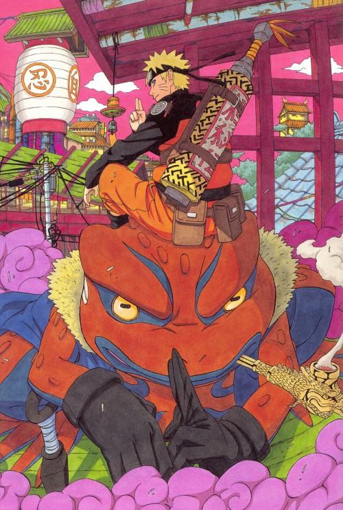 Masashi Kishimoto, Naruto, NARUTO Illustrations, Naruto Uzumaki, Gamakichi
