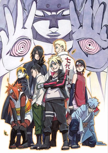 Masashi Kishimoto, Naruto, Sarada Uchiha, Sasuke Uchiha, Naruto Uzumaki