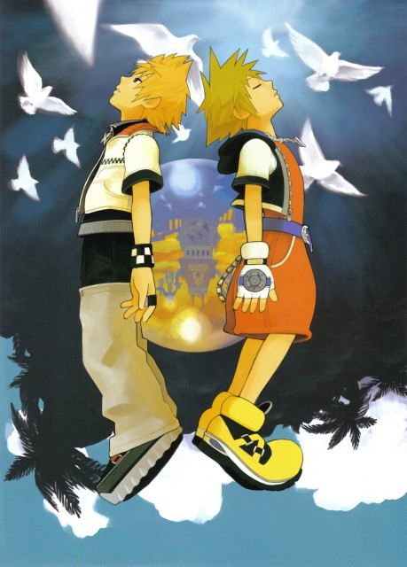 Shiro Amano, Art Works Kingdom Hearts, Kingdom Hearts, Roxas, Sora