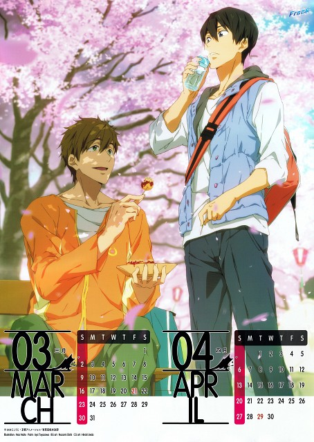 Nao Naito, Kyoto Animation, Free!, Free! 2014 Calendar, Haruka Nanase (Free!)