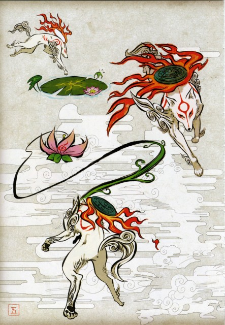 Capcom, Okami Official Illustrations Collection, Okami, Amaterasu