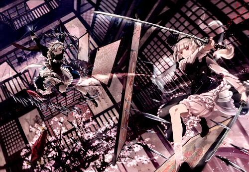 Miyuki Ruria, mythos-You-, Touhou, Sakuya Izayoi, Youmu Konpaku