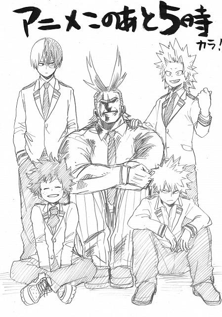 Kouhei Horikoshi, Boku no Hero Academia, Izuku Midoriya, All Might, Eijirou Kirishima