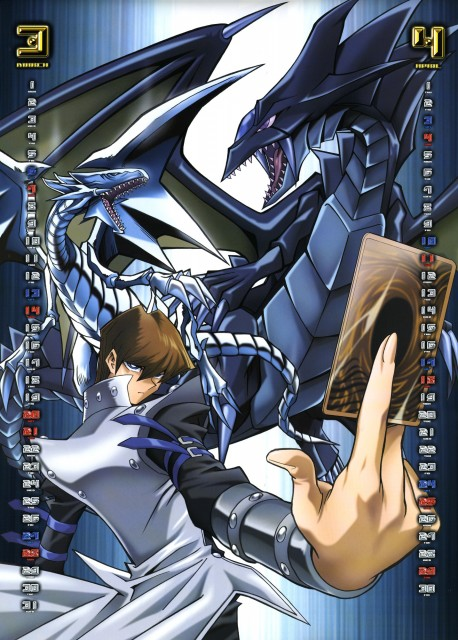 Kazuki Takahashi, Studio Gallop, Yu-Gi-Oh Duel Monsters, Yu-Gi-Oh 2004 Calendar, Blue-Eyes White Dragon